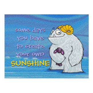 Yeti, postcard