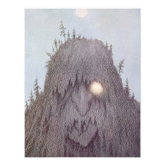 YETI SASQUATCH BIG-FOOT PARTY MONSTER INVITATION