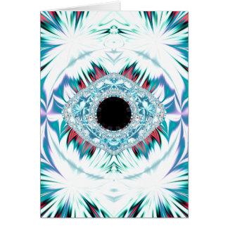 yeti & the sacred eye greeting card