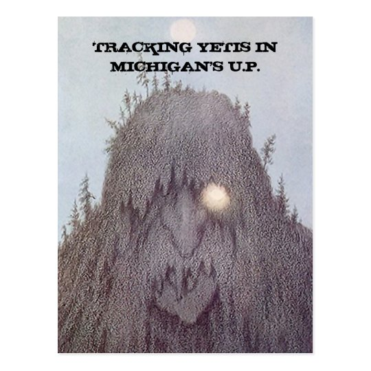 YETI TRACKING YETIS TERRAIN POSTCARD EZ2CUSTOMIZE!
