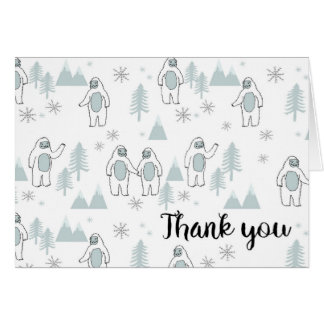 Yeti Winter Thank You Card
