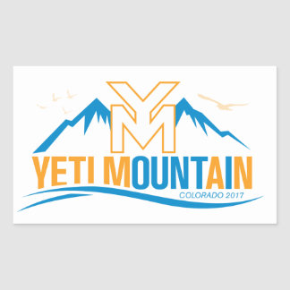 YetiMan Mountain Colorado 2017 Rectangular Sticker