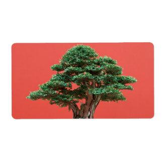 Yew bonsai shipping label