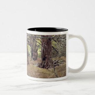 Yews in the Old Yew Wood Two-Tone Coffee Mug