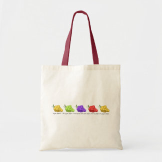 """""""Yeyow Grapes"""" (with Quote) Tote Bag"""