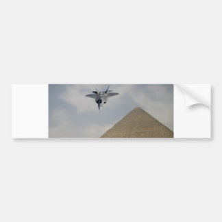 YF-22 RAPTOR FLY OVER PYRAMIDS BUMPER STICKERS