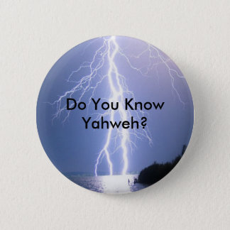 YHWH Lightning 6 Cm Round Badge