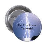 YHWH Lightning 6 Cm Round Badge