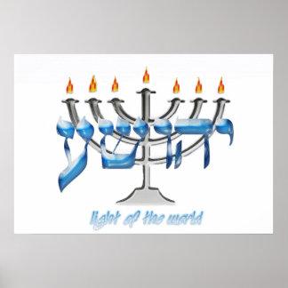 YHWSHUA Light of The World Poster
