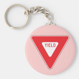 Yield Basic Round Button Key Ring