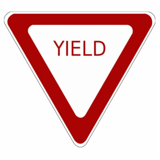 Yield Sign Photo Cut Out