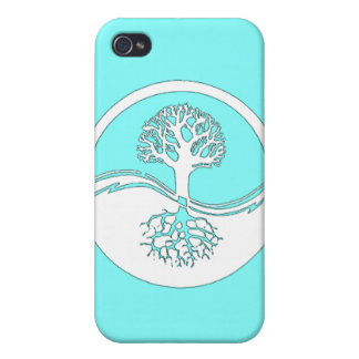 Yin and yang and tree of life iphone 4 case