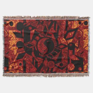Yin and Yang Black and Gold Haze SDL TB Throw Blanket
