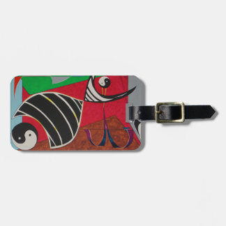 Yin and Yang design by Viktor Tilson Luggage Tag