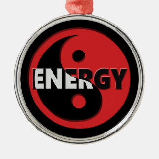 Yin and yang energy concept. christmas ornament