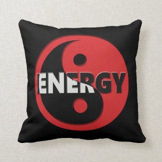 Yin and yang energy concept. cushion