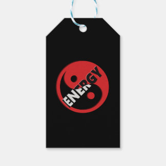 Yin and yang energy concept. gift tags
