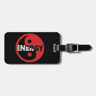 Yin and yang energy concept. luggage tag