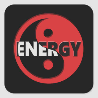 Yin and yang energy concept. square sticker