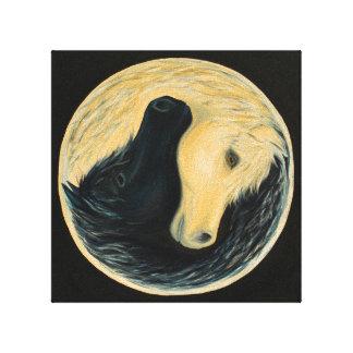 Yin and Yang horses Canvas Print