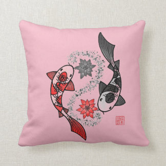 Yin and Yang Koi Fish Pillow