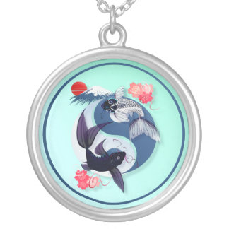Yin and Yang Koi  Necklace