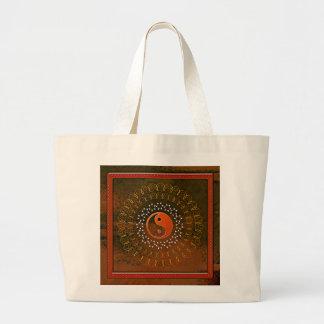 Yin and Yang Large Tote Bag