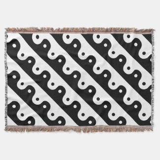 Yin And Yang Sides Throw Blanket