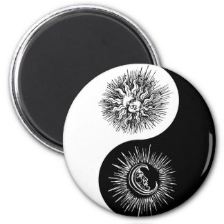 Yin and yang sign - Sun vs Moon 6 Cm Round Magnet