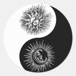 Yin and yang sign - Sun vs Moon Sticker