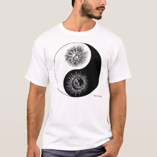 Yin and yang sign - Sun vs Moon T-shirt