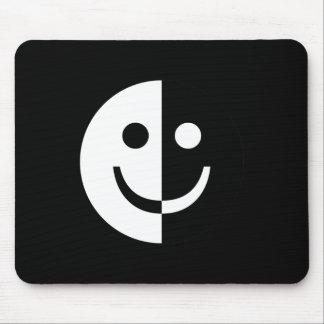Yin and Yang Smiley Mouse Pad
