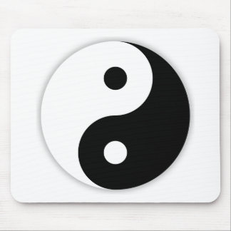 Yin and Yang Taoism Mouse Pad