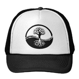 Yin and yang tree of life cap
