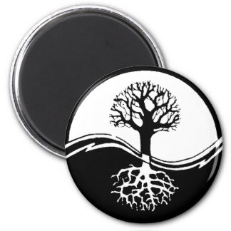 Yin and yang tree of life magnet
