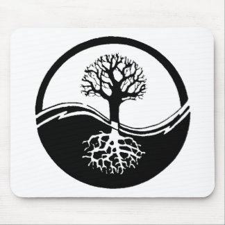 Yin and yang tree of life mouse mat