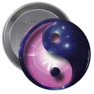 Yin and Yang Universe Symbol 10 Cm Round Badge