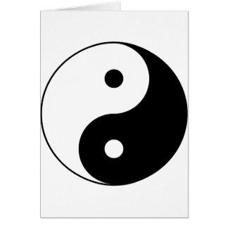 Yin and yang (yin-yang, yin yang, 陰陽). greeting card