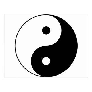 Yin and yang (yin-yang, yin yang, 陰陽). postcard