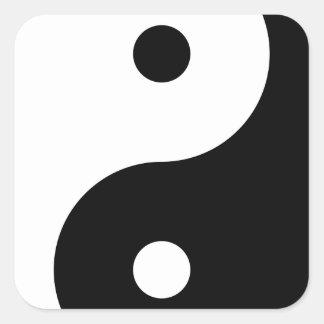 Yin and yang (yin-yang, yin yang, 陰陽). square sticker