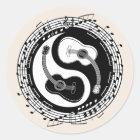 Yin Guit Notation Classic Round Sticker