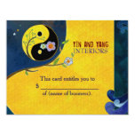 Yin n Yang Business Gift Certificates 11 Cm X 14 Cm Invitation Card