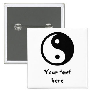 Yin Yang 15 Cm Square Badge