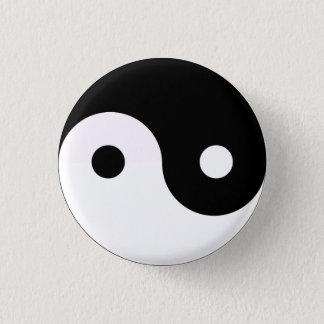 Yin Yang 3 Cm Round Badge