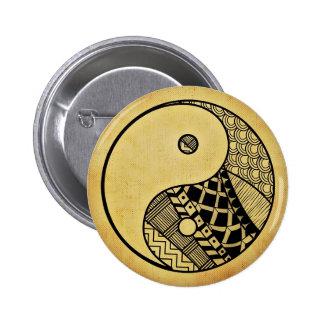 Yin yang 6 cm round badge