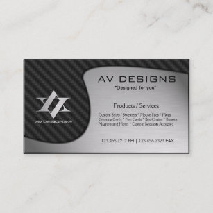 Brushed aluminium business cards zazzle uk yin yang abstract carbon brushed aluminium business card reheart Gallery