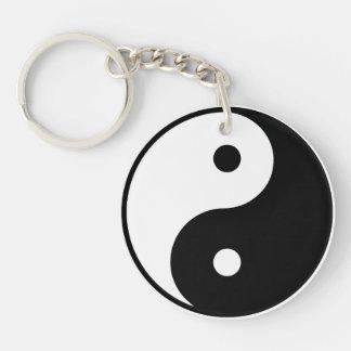 Yin Yang Acrylic Keychain