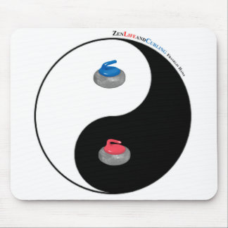 Yin Yang and Zen of Curling Mouse Pad