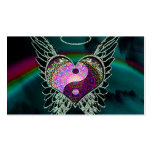 Yin Yang, Angel Wings and Heart Business Card