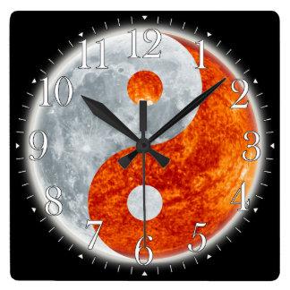 Yin Yang Asian sign for Balance Wall Clock